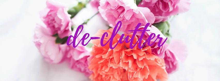 declutter fresh flowers