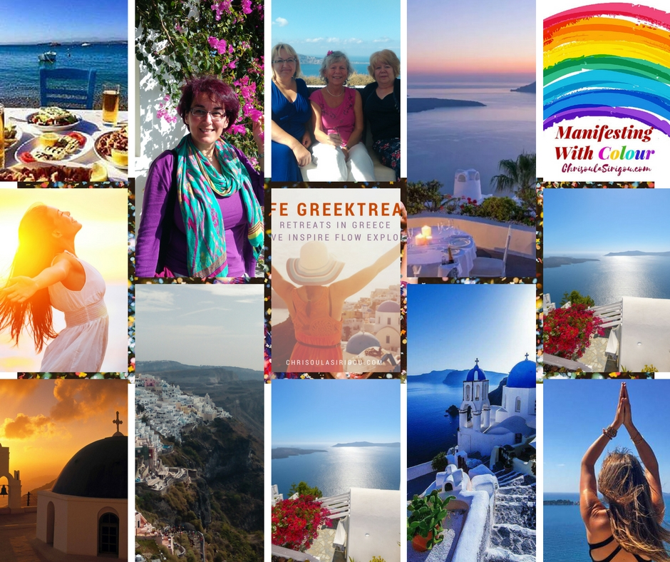 Santorini Collage Greektreats
