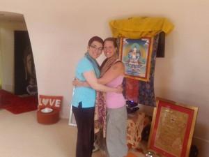 Anna and Chrisoula hug