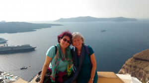 Chrisoula and Satya Santorini 2015