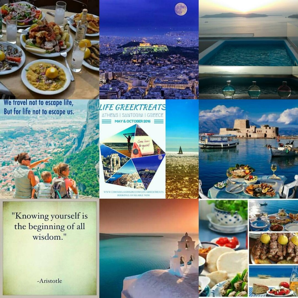 collage athens santorini greektreats