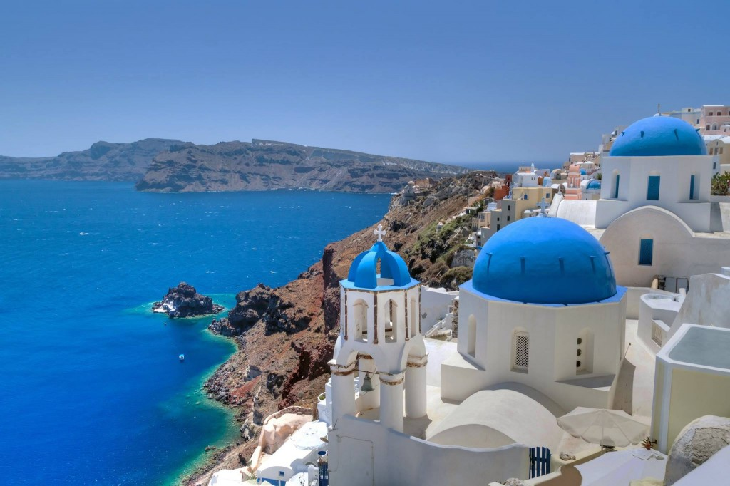 Santorini Blue and White buildings