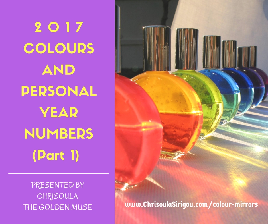 Colours and Personal Year Numbers 2017 Part 1