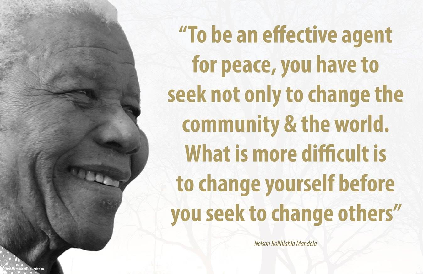 Nelson Mandela change and peace
