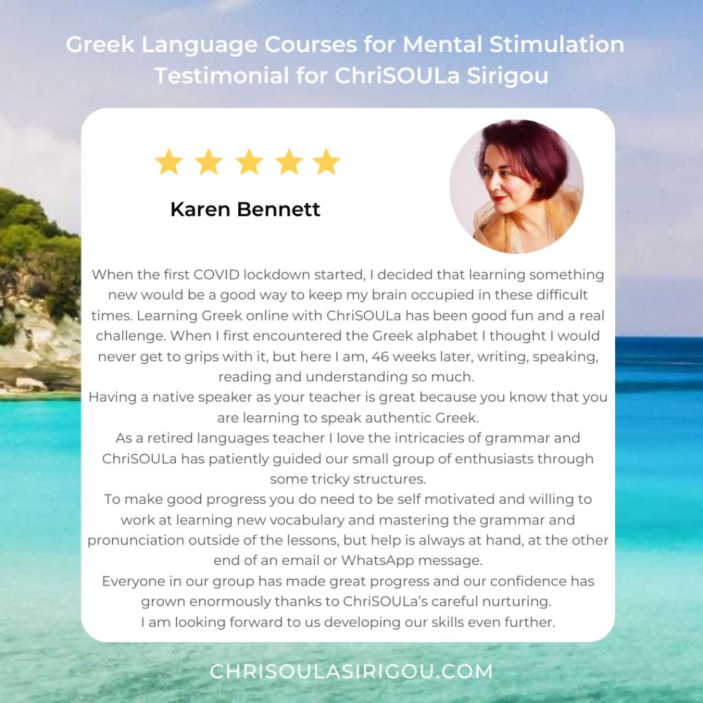 Greek Testimonial Karen Instagram Post (1)